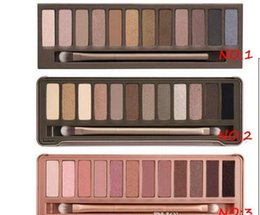 Wholesale Best Matte Eyeshadow - Best quality Naked eye shadow pallet smoky makeup NO:1 2 3 5 Palette 12 color naked pallet Matte Natual eyeshadow Cosmetics