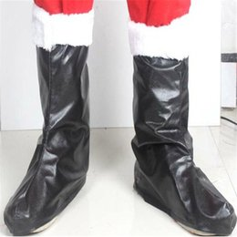 Wholesale Leather Santa Claus Boots - New 2016 Christmas Decorations Christmas Performance Props Santa Claus Costume Christmas Boots Santa Claus Decor S198