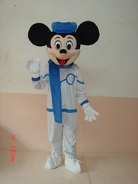 Wholesale Popular Mascot Mouse - Factory Outlets Hot Sale The popular micky mouse in white suit Halloween Fancy Dress Cartoon Adult Animal Mascot Costume free shipping