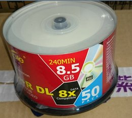Wholesale Dvd Recordable Disc - 8.5GB Blank Discs Recordable Printable DVD R for DVD Movies TV series Disk 50pcs lot Free Shipping