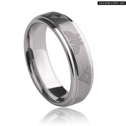 Wholesale Cheap Tungsten Wedding Ring - Wholesale Cheap Price Jewelry USA Hot Sales 6 8mm Men&Women's Classic Silver Bevel Zelda Ring New Tungsten Wedding Ring free shipping