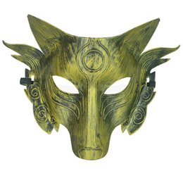 Wholesale Masquerade Wolf Masks - New Christmas Party Wolf Mask Halloween Masquerade Party Masks Costume Ball Bar Decoration Adult Kids for Party Costume in stock