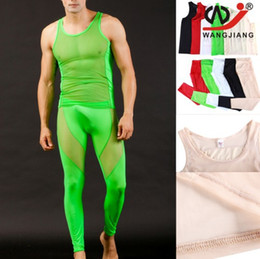 Wholesale Men See Pants - Winter Man Thermal Underwear Sets Long Johns Suits Winter Men Sexy Long Underwear Legging Thermo Suit Clothing Set Mens See Through Pants