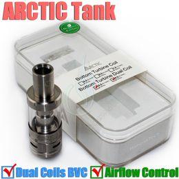 Wholesale Mega Best - Best Arctic sub ohm tank Horizon airflow Atomizer BTDC dual coils by 30-100watt v Mega Subtank Atlantis Mini Joyetech Delta Arctic RDA DHL