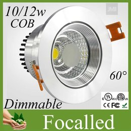 Wholesale Discount Recessed Led Lights - Big discount Cob 10w 12w Led Recessed Downlight Dimmable Led Ceiling Light Spotlight lighting 60angle 110-240v + led driver 3 years warranty