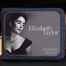Wholesale Korean Beautiful Dresses - Elizabeth Taylor wallet Beautiful star purse Customized leisure short cash note case Money notecase Leather burse bag Card holders