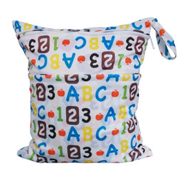 Wholesale Animal Laundry - Printing Zippered Chevron Cloth Diaper bags Baby Laundry Wet and Dry Bags Cloth Diaper Bags Wet 26 different WetBag 33*28cm