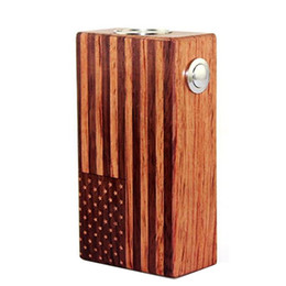 Wholesale American Flag Wood - 2016 Wood Ecig American Flag Wood Box Mod Fit 2 18650 Bttery Compass Crown Box Mod Epacket Free Ship