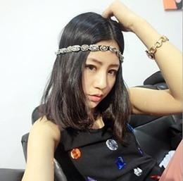 Wholesale Retro Style Hair Accessories - Woman Hair Accessories Hairband Fashion Retro Style Women Hair Band Crystal Rhinestone Gray Beads Headband MD