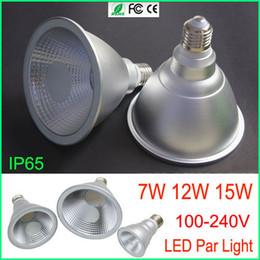Canada Livraison gratuite Haute puissance Led Lampe Spotlight Ampoule LED Par Lumière PAR38 PAR30 PAR20 7 W 12 W 15 W E27 E26 Led spot Lumière led downlight éclairage Offre