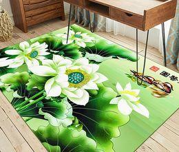 Wholesale Livingroom Carpets - Chinese style New Classical Rectangle Carpet 3D Chinese art Dorr Livingroom Bedroom Study Tea Table Mat