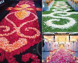 Wholesale Gold Home Accessories - Romantic Artificial Silk Rose Petals Home Decorations Petal Flowers Wedding Party Garlands Accessories Gold Red 40 Colors 5cm MIC 1000pcs