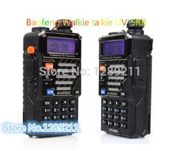 Wholesale Uhf Vhf Interphone Transceiver - Wholesale-2pcs lot Baofeng Walkie Talkie Uv-5rb A0850e Uhf&vhf Interphone Transceiver Two-way Fm Radio Mobile Portable Handled