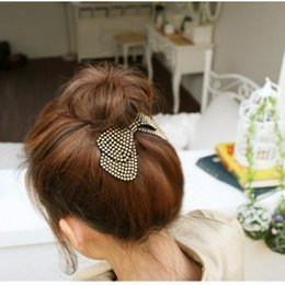 Wholesale Asian Red Fabric - Fashion women hair accessories wholesale!new arrival bow hairpins,designer all match hair barrettes, girl's trendy hairggrips