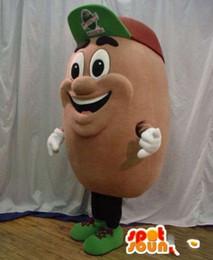 Wholesale Coffee Bean Halloween Costume - customized Mr. Coffee Beans mascot costume ,free shipping !