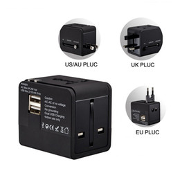 Wholesale usb charging wall socket power - Universal International Travel Charger Adapter AU UK US EU Plug Converter Wall AC Power Sockets Adapter with usb charging All In One
