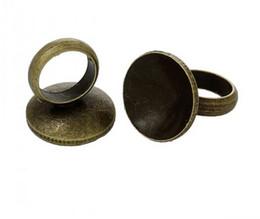 Wholesale Bronze Pendant Clasp - Wholesale-Copper Cap Connector For Glass Bubble Cover Pendants With Loop Vials Diy Antique Bronze 6.5mm x 6mm (B35714)