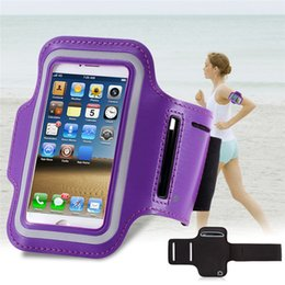 Wholesale Mobile Phone Belt Holders - Wholesale-Waterproof Sports Running Armband Leather cover Case For iphone 5 5 5s 5c 5G Mobile Phone Holder Pounch Belt Gym Arm band bag
