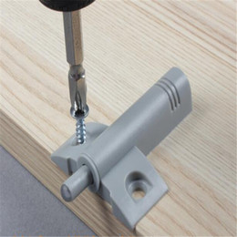 Wholesale Cabinet Doors Buffer - 6.5 x 4.6 cm Kitchen Cupboard Cabinet Door Buffer Soft Close Cushion Dampers Catch System with Screws
