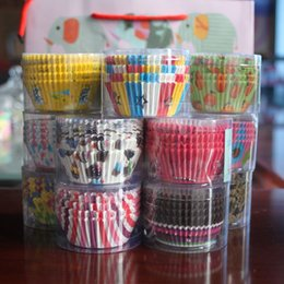 Wholesale Sell Muffin Cups - Hot-selling Mix Color 100pcs Lot Christmas Birthday Wedding Cake Decorating Tools Paper Muffin Cupcake Baking Cake Cups Party Decoration