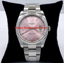 Wholesale Mechanical Watch 36mm - Luxury watch Oyster Perpetual 36mm PINK STICK DIAL Watch watches