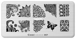 Wholesale Stainless Steel Image Plate - Nail Template Cooi Series Nail Art Plate Stainless Steel Image Konad Nail Art Stamping Template DIY Nail Tool