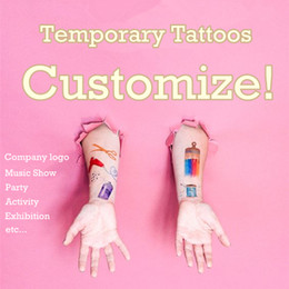 Wholesale Custom Company Logos - Personalized Temporary Tattoo Customize Tattoo Adorable Custom Make Tattoo For Cosplay or Company Logo Party Football Game