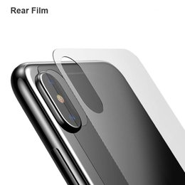 Wholesale Iphone Back Film Protector - For iPhone X Rear Thin Tempered Glass Screen Protector Clear Back Toughened Glass Protective Film for Apple iPhone X