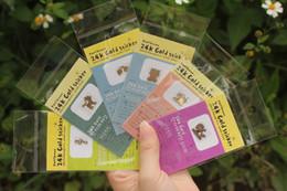 Wholesale Gold Plating Anti Radiation Sticker - Wholesale-wholesale 2015 100pcs lot Korean cartoon style phone anti radiation stickers for lady girl 24k gold plated nice decoration