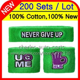Wholesale Wristband Free - 24Colors 100% Cotton New Hot Green wristbands sweatbands wristband sweatband 100% New 100%High Quality Free customised Factory onlie store