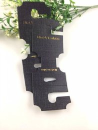 Wholesale Hair Accessories Display Cards - Hot Sale Jewelry Necklace Bracelet Hair Accessory Display Packaging Card,200pcsThick Black Plastic PVC Jewelry Hanging Card