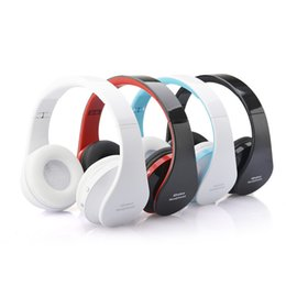 Wholesale Wireless Bluetooth Headphones Stereo Foldable - Fashion Bluetooth Stereo Music Headphone Adjustable Wireless Headset Foldable Design Headband with Microphone for MP3 Cell Phones