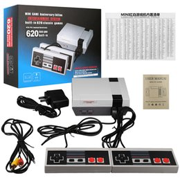 Wholesale Video Player Pc - 2017 TV Handheld Game Console Mini Video Game Player Console For Nintendo NES Windows PC Mac with 620 Built-in Games With Box