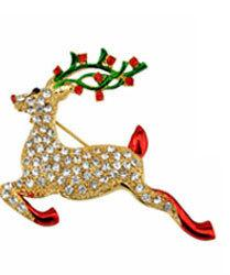 Wholesale Vintage Jewelry Deer - Christmas Brooch Christmas pins Deer Vintage Brooch for Party Lovely Brooches Pins Discount jewelry childrens jewelry DXBR00590