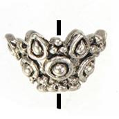 Wholesale End Cap Beads 6mm - Jewelry Findings DIY End Caps For Bead Crafts Vintage Silver Metal Flower Open Beads Caps Wholesales Fashion New Suppliers 11*6mm 200pcs