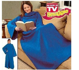 Wholesale Snuggie Blanket Wholesale - Snuggie Super Soft Fleece Blanket with Cozy Sleeve Wearable Robe Cloak TV Lazy Warm Throw Blankets 180*130cm