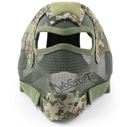 Canada Wargame visage intégral protection face maille en acier tête sécurité Masque Airsoft Paintball BB Wargame protecteur tête / visage supplier airsoft full mesh mask Offre