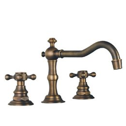 Wholesale Classic Brass Bathroom Faucets - Cloud Power Dual Holder Three-hole Bathroom Sink Faucets Mixer with Brass, Classic Bathroom Basin Tap Sets