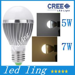 Wholesale Sensor E26 - LED Bulbs 85-265V Lamps LED E27 motion sensor light 5W 7W auto Detection bulb Sound with Light sensor Lamp Tubes PTCT H12765 H14653