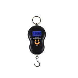 Wholesale Digital Kg - Wholesale-1 pcs black color Hanging Gourd Mini Electronic Digital Hanging Luggage Scale BackLight Pocket Weight Kg Lb