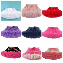 Wholesale Tutu Fluffy Ruffles Skirts - girls Fluffy Pettiskirts Baby tutu Dance Party Skirt Tutu skirts baby infant tutu skirt kids Butterfly Ruffle bowknot Skirt KKA3446