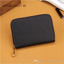 Wholesale Mini Note Cards - 7 colors small wallets fashion women MICHAEL KALLY MK wallet famous brand single zipper wallets female pu leather purse