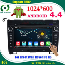 Wholesale Dvd Hover - Android 4.4 HD 1024*600 Capacitive screen Car DVD Player GPS radio for Great Wall Hover H3 H5 WIFI 3G Bluetooth USB car stereo