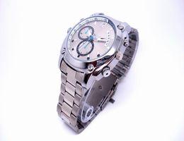 Wholesale 12m Camera - HD 1080P Waterproof Metal Wrist Watch Camera IR Night Vision 12M 4032*3024 JPEG 8GB W6000 Hidden camera Video recorder Mini DV USB Disk