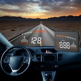 Wholesale Car Hud Head Up - 3inch X5 Universal Car HUD Head Up Display OBD II Interface Projector Vehicle Overspeed Alarm Windshield Project OBD2 Car styling Auto Kit