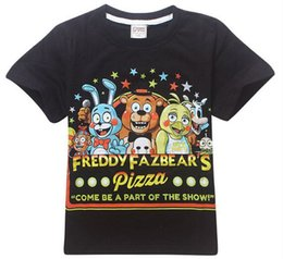 Wholesale Children S Clothing For Girls - 4-14Y New Boys T Shirt Five Nights at Freddy's Cartoon Children T Shirts For Boys Girls Tees Cotton Tops Kids clothes & Kids set
