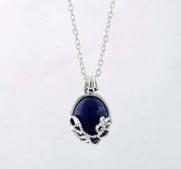 Wholesale Katherine Necklace - Crystal Necklaces Pendants The Vampire Diaries Katherine Anti-sunlight Lapis Lazuli Vintage Chain Necklace