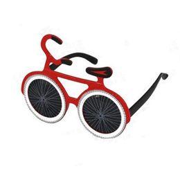 Wholesale Kids Bike Wholesale - 2017 New Bicycle Shaped Glasses Funny Bike Eye Glasses Kids Adults Eyewear Halloween Dance Party Favors Gift