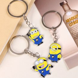 Wholesale Small Minion Eye - Despicable Me Keychains Cartoon Key Chain Despicable Me 3D Eye Small Minions Figures Kids toy Keychain high quality