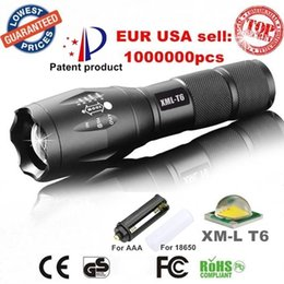 Wholesale Led Flashlights For Sale - Black G700 LED Flashlight. Durable CREE XMLT6 LED Torches for Camping 2000 Lumens Aluminum Alloy Material Hot Sales XML3T6